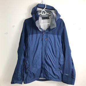 Mens M Marmot Blue Nylon Hooded Winter Jacket